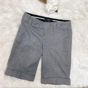 Club Monaco Wool Blend Herringbone Dress Shorts